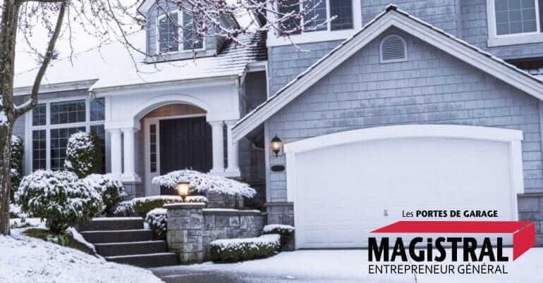 Entretien de votre porte de garage avant l'hiver